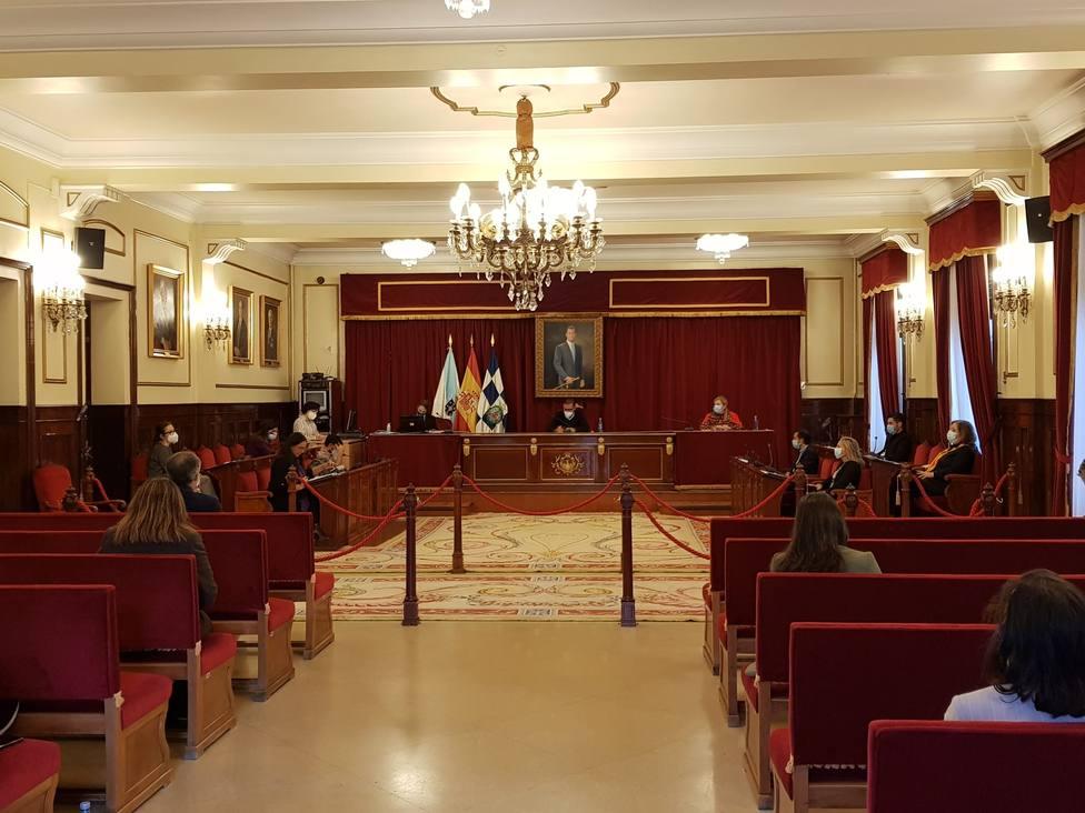 Foto de archivo de un pleno celebrado en el Ayuntamiento de Ferrol. FOTO: Cedida
