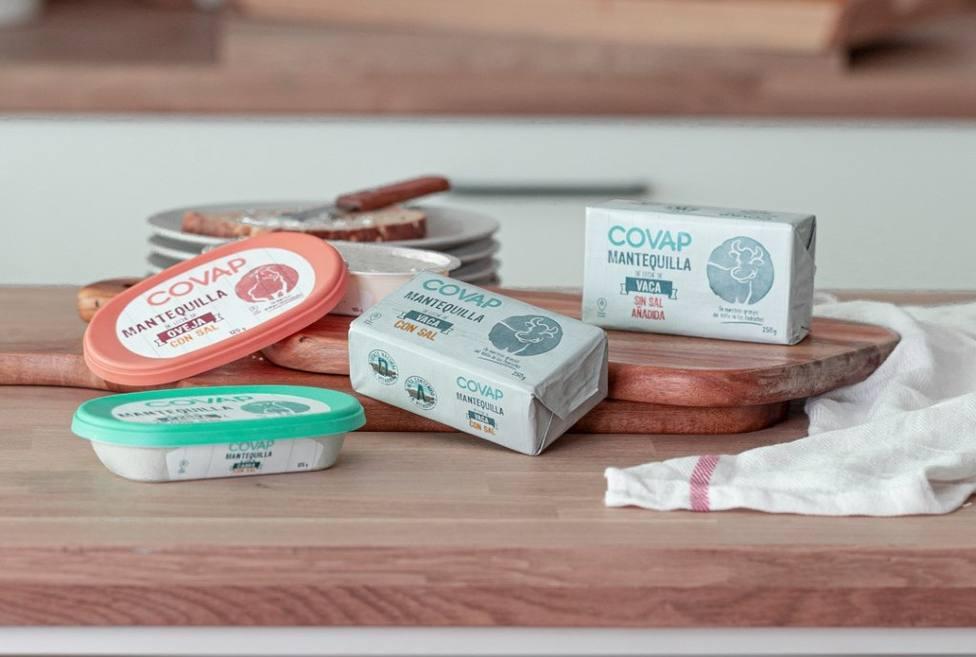 Lácteos COVAP lanza una nueva gama de mantequillas elaboradas con leche de vaca, oveja y cabra