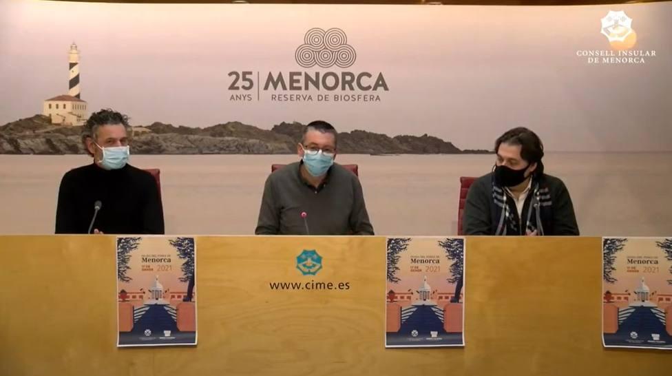 Ildefonso Hernández y Maties Torrent, conferenciantes del acto institucional de la Diada del Poble de Menorca,