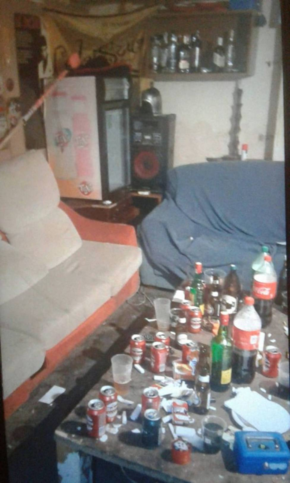 Terrizo en el que se celebró una fiesta privada el pasado viernes