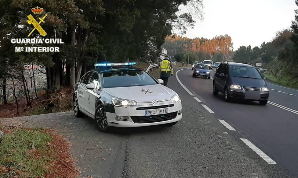 Conductora ebria Guardia Civil Puesto Trabajo