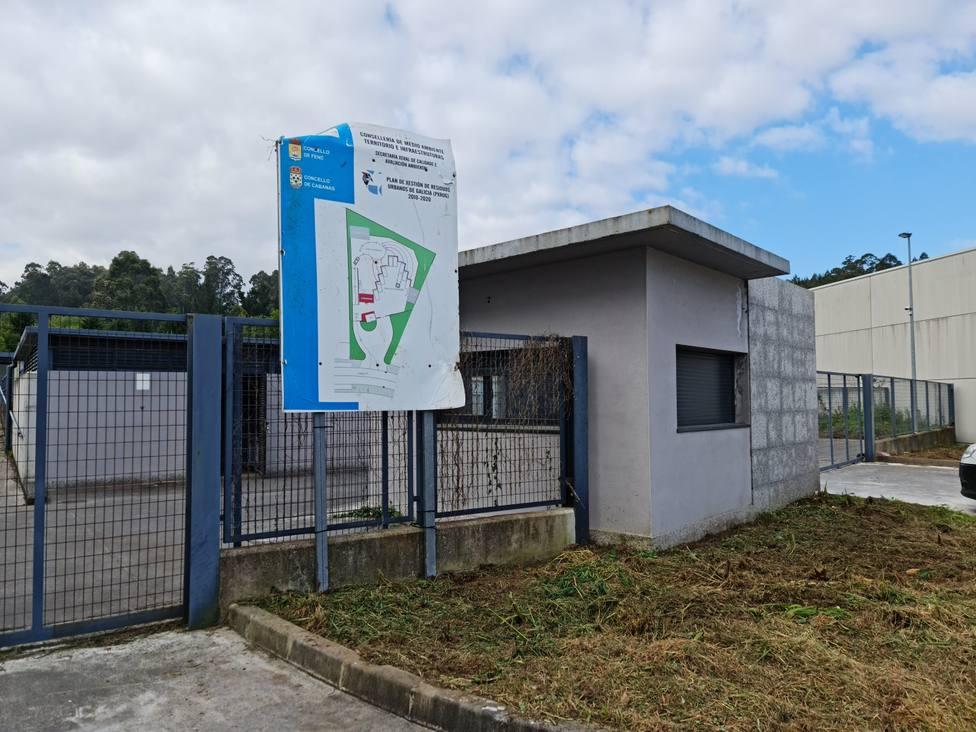 El punto limpio lleva años finalizado en el polígono industrial de Vilar do Colo - FOTO: Cedida