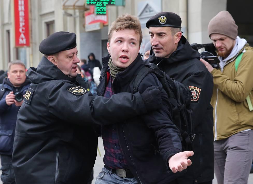 Roman Protasevich, el periodista detenido en Minsk, tras desviar un avión a ese aeropuerto