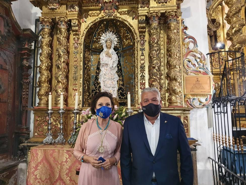 Tana García Mínguez es proclamada Camarera de la Santísima Virgen de los Dolores