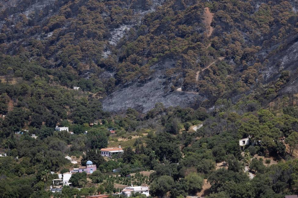 Seis pueblos desalojados en Málaga por el incendio en Sierra Bermeja