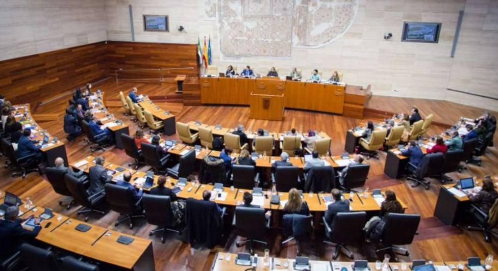 Hemiciclo de la Asamblea de Extremadura (Archivo)