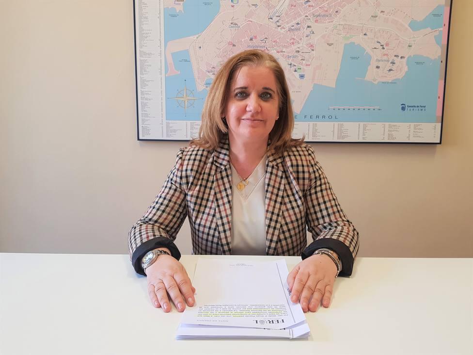 Rosa Martínez, concejala del grupo municipal del PP. FOTO: PP de Ferrol