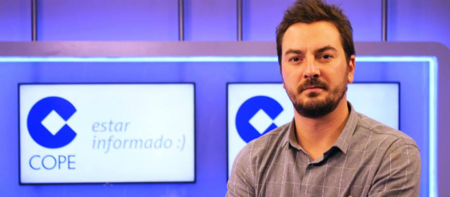 Jorge Bustos en el estudio de COPE