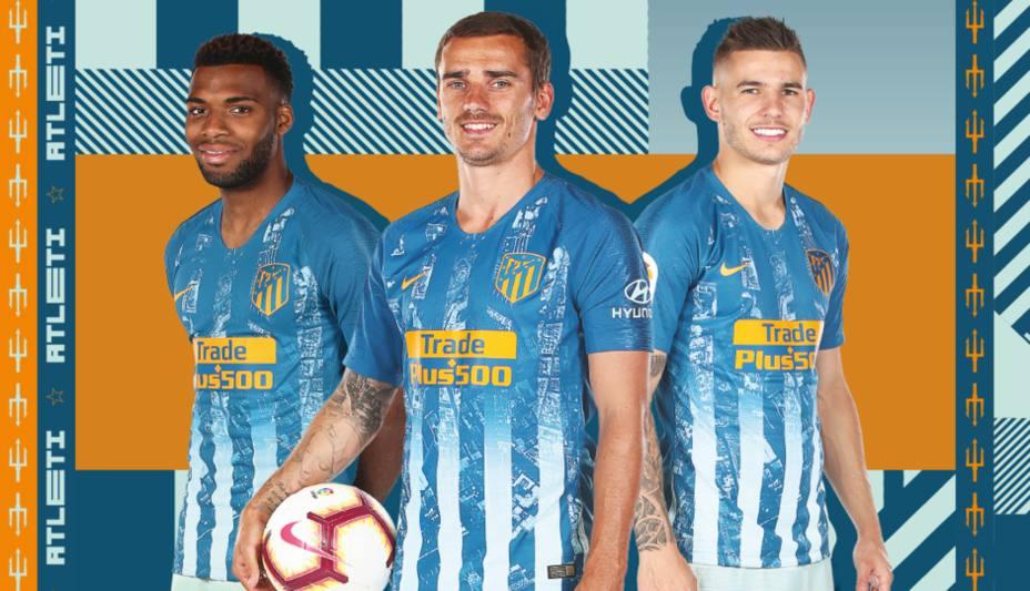 66fa2b27a72fd El Atlético lucirá rayas en dos tonos de azul en su tercera equipación