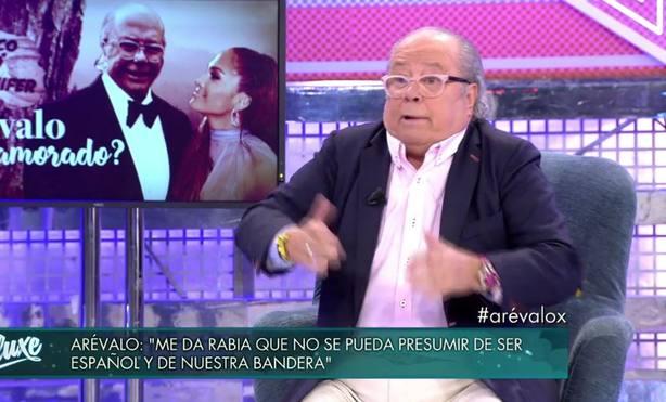 Arévalo durante una entrevista en Televisión