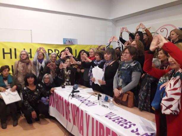 asocaiciones feministas tras la lectura del manifiesto