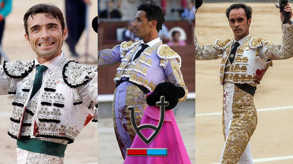 Fernando Robleño, Iván Vicente y Cristian Escribano, ante toros de Valdellán