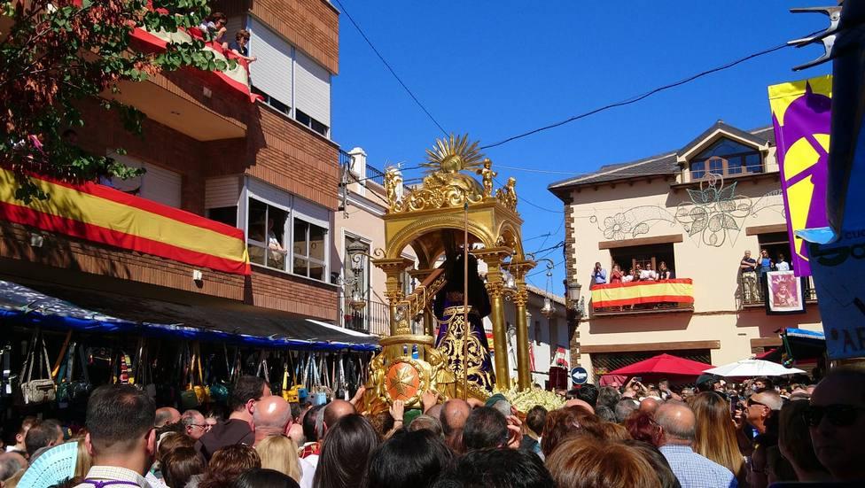 Gran afliencia de peregrinos en la salida procesional de Santísimo Cristo de Urda