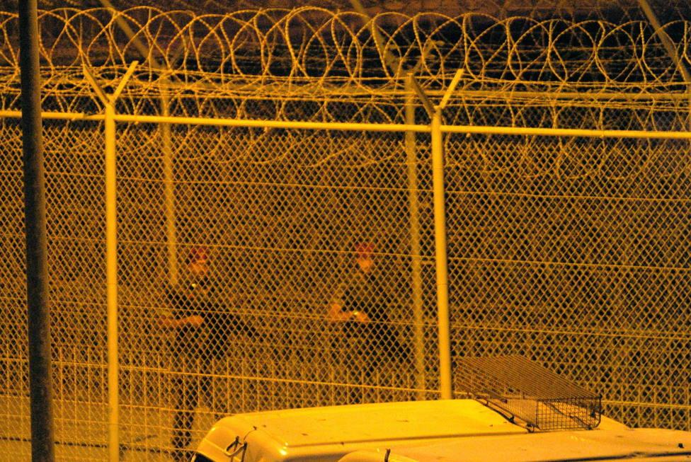 Perímetro fronterizo de Ceuta que separa España de Marruecos