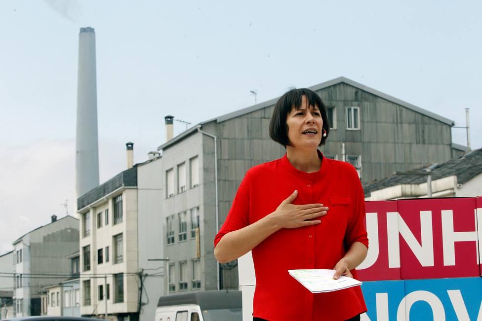 Foto de archivo de Ana Pontón durante un acto realizado en As Pontes - FOTO: EFE / Kiko Delgado