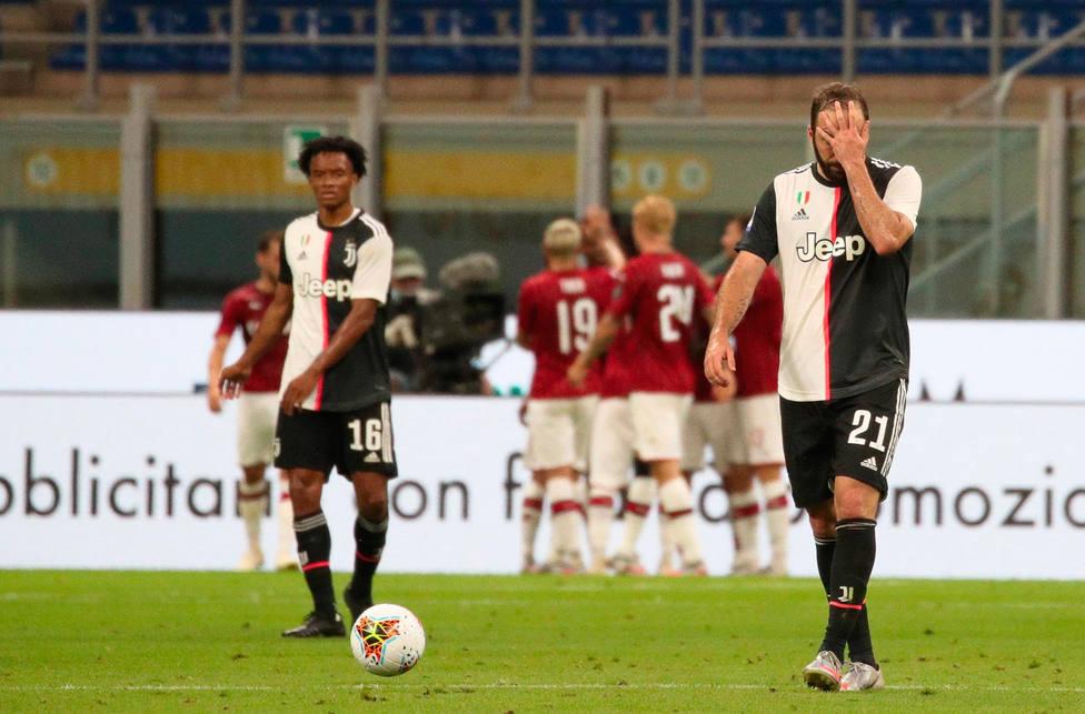 El Milan celebra uno de los goles ante la Juventus (EFE)