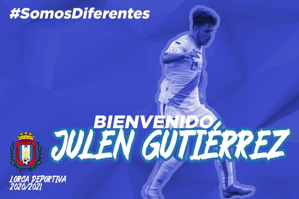 Julen Gutiérrez, nuevo jugador del CF Lorca Deportiva