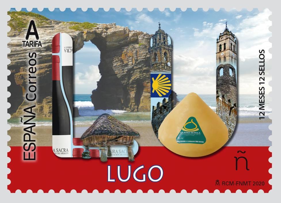 Correos emite un sello dedicado a la provincia de Lugo