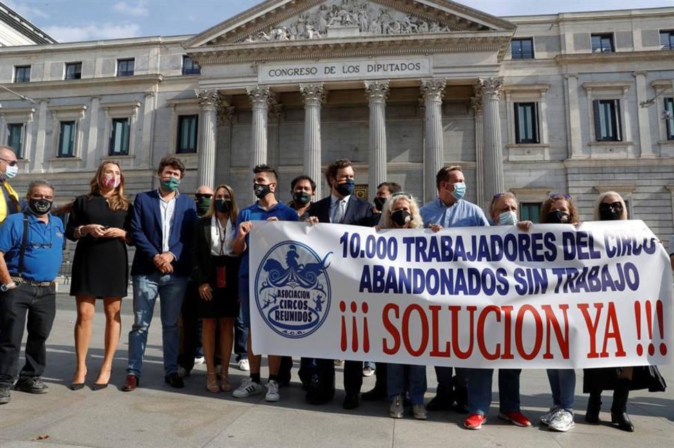 Circos Reunidos han pedido ayuda en el Congreso de los Diputados