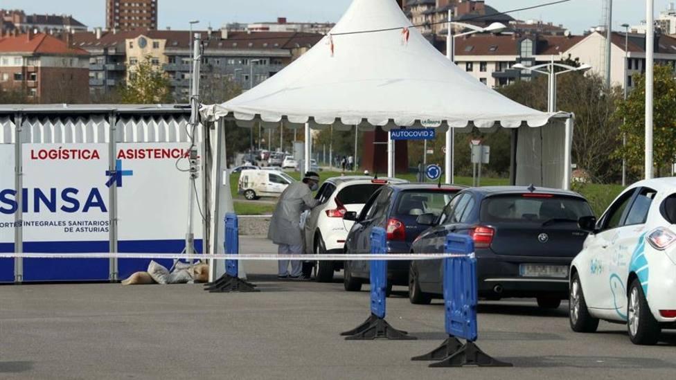 Autocovid instalado en Gijón