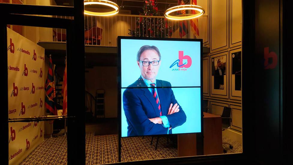 Agustí Benedito, en la sede de la precandidatura (@agustibenedito)