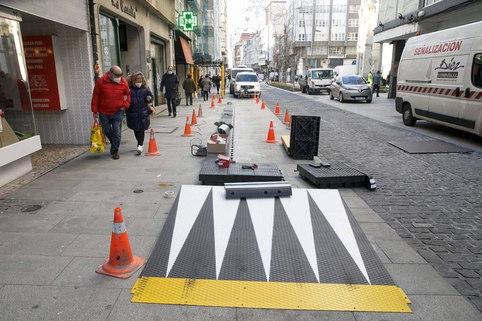 Preparación de la nueva parada de San Andrés