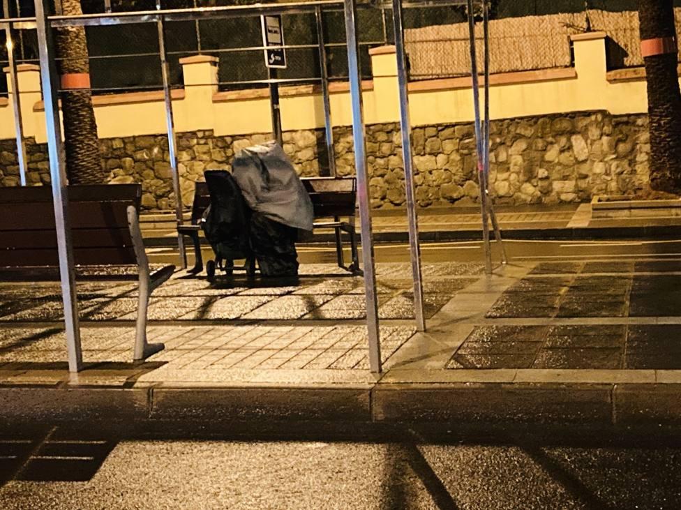 Persona sin hogar Tenerife