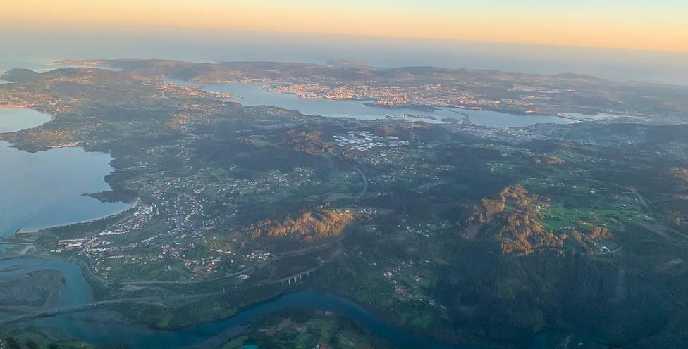 Vista aérea de Ferrolterra y Eume - FOTO: Juan DSG