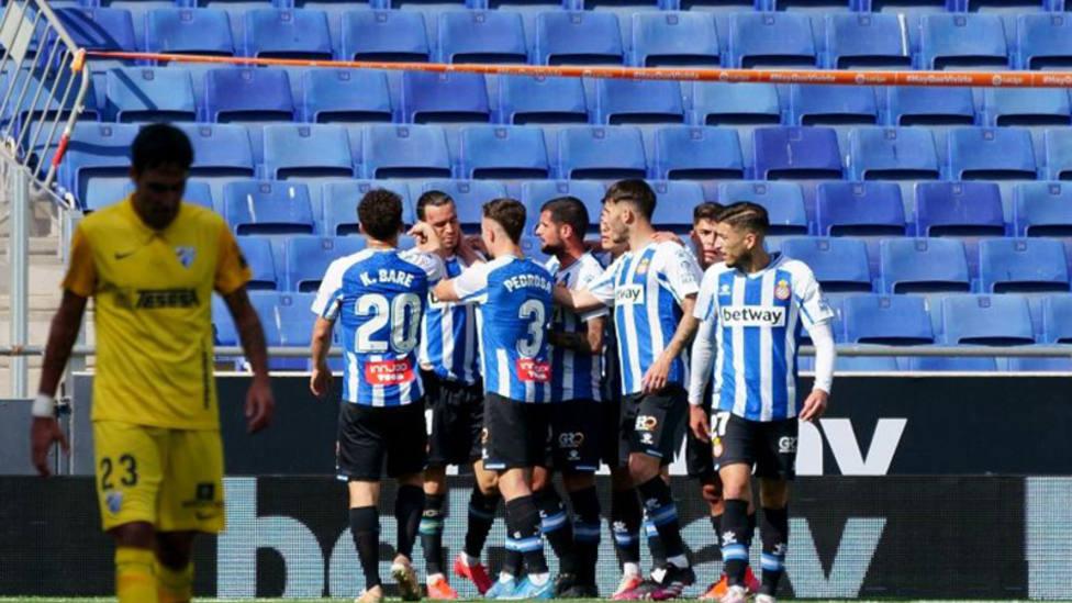 El Espanyol vence al Málaga