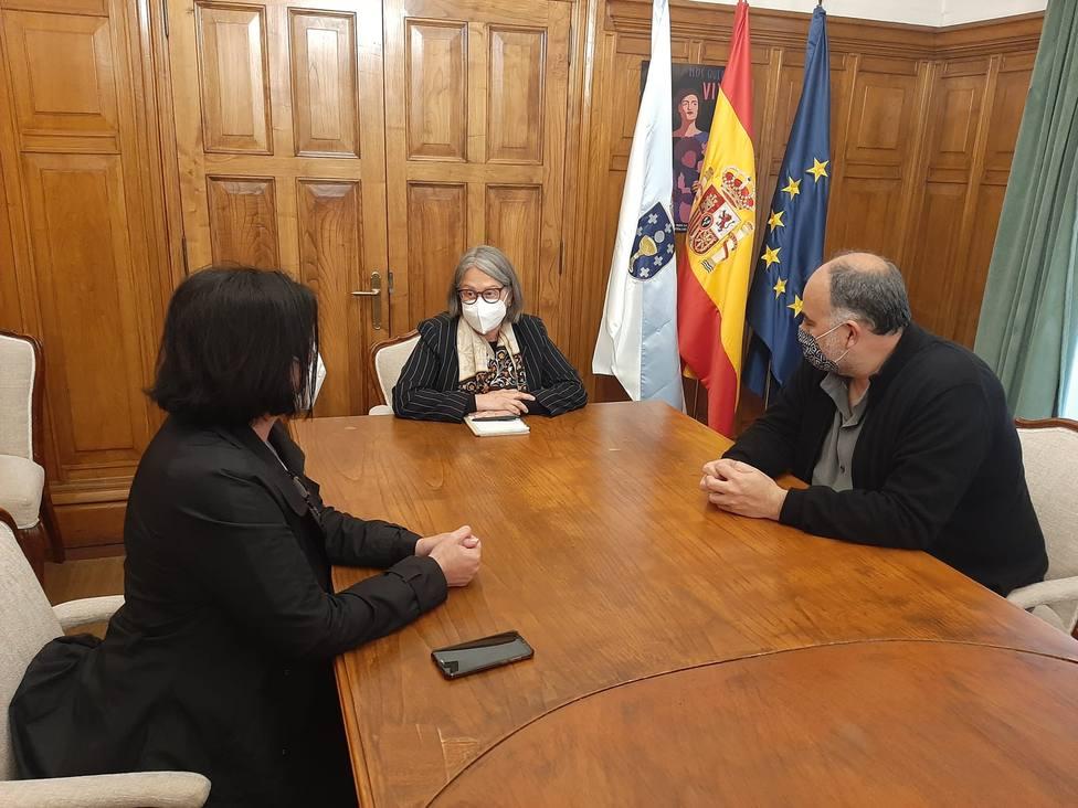 Reunión de miembros comité de empresa de Navantia con Pilar López Riobóo. FOTO: Delegación Gobierno