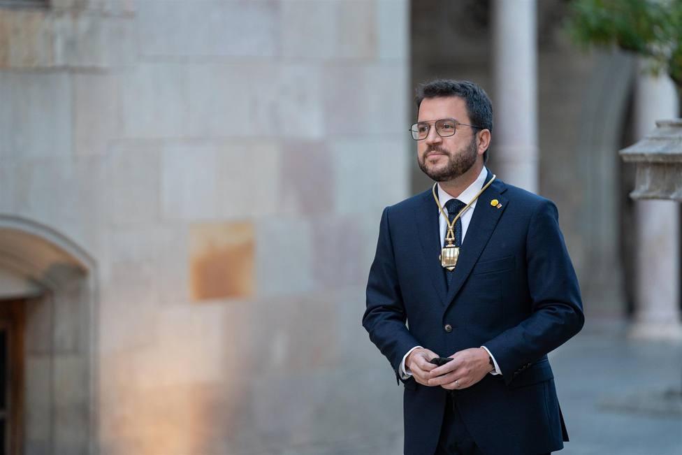 El 132 presidente de la Generalitat de Catalunya, Pere Aragonès - Pau Venteo - Europa Press
