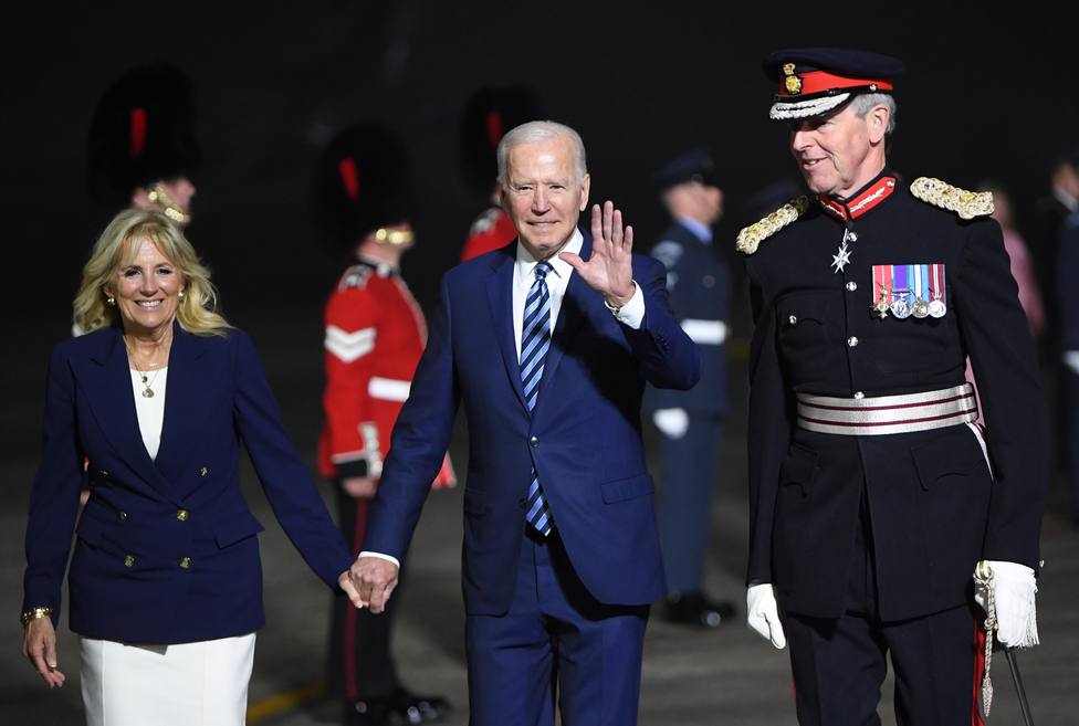 US President Biden arrives to Britain to attend the G7 summit
