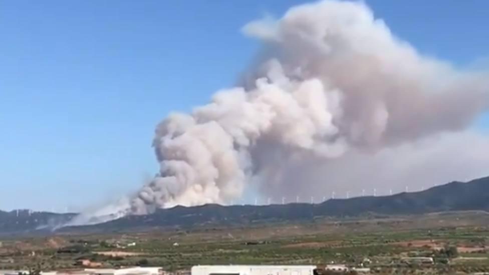 La UME interviene en La Rioja para sumarse a las tareas de extinción del incendio en el monte de Yerga