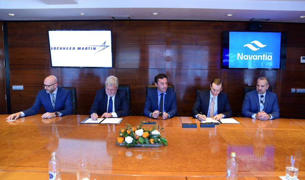 Firma del acuerdo entre Navantia y Lockheed Martin. FOTO: Navantia