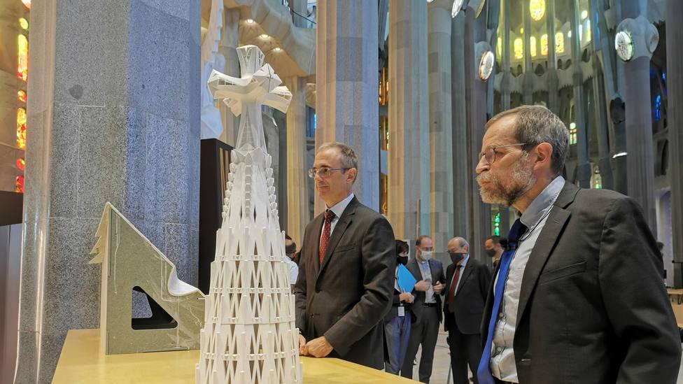 La Sagrada Familia presenta el terminal de la torre de Jesucristo, la edificación más alta de Barcelona