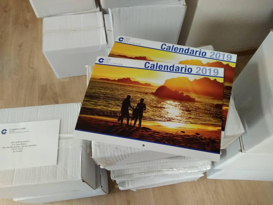 Los calendarios yas esstán en las instalaciones de Cope Ferrol