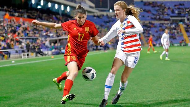 Imagen del amistoso entre España y Estados Unidos en Alicante ( SeFutbolFem) 792f80d8410a2