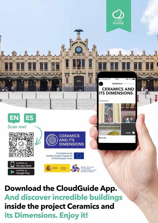 El Museo Nacional de Cerámica presenta la app Cerámica arquitectónica en Europa con información sobre 150 edificios