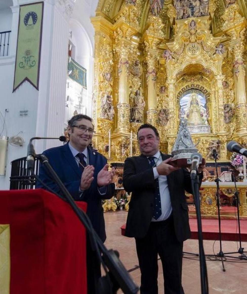 Rafael González Serna y Juan Ignacio Reales en el Santuario del Rocío