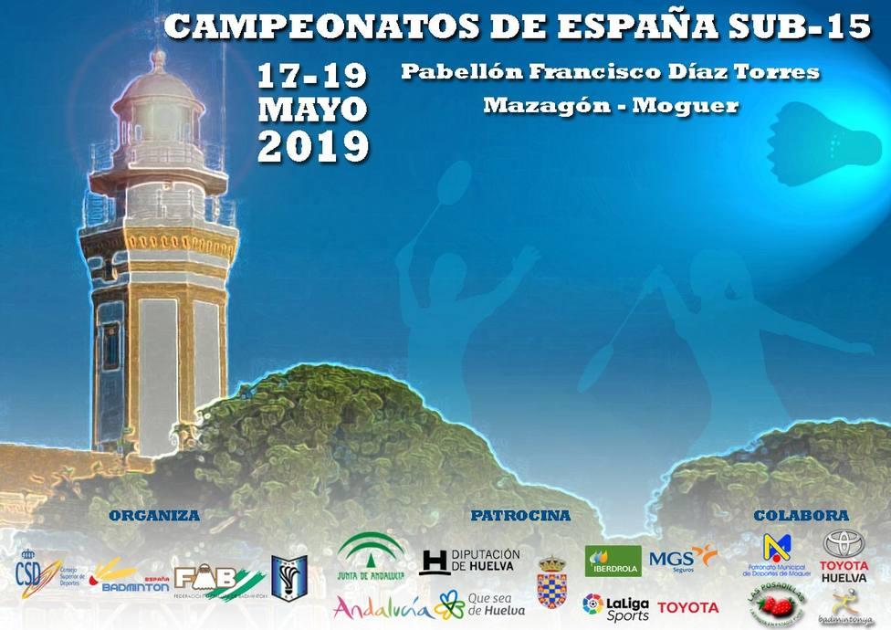 Cartel anunciador del campeonato de España de Bádminton