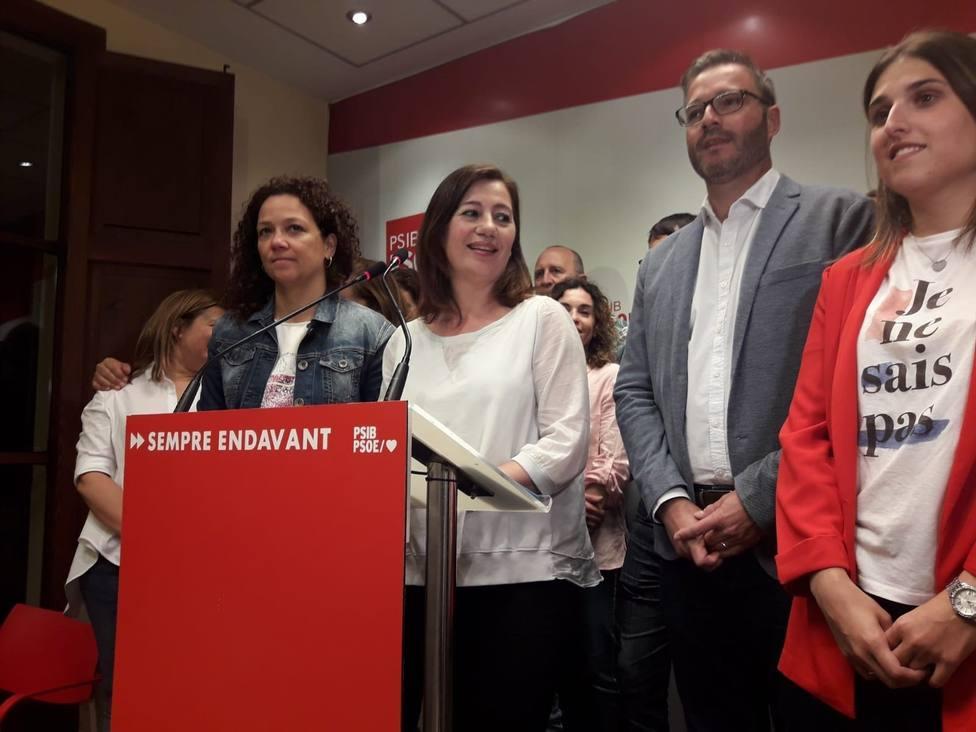Noche de primeras veces del PSIB: gana en Baleares y podrá gobernar 8 años