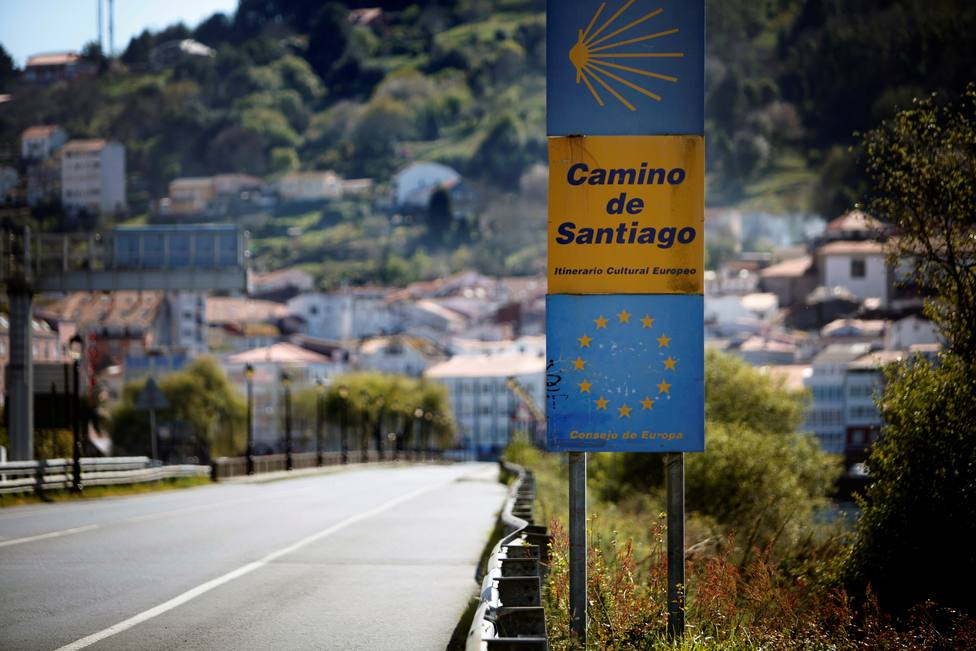 El Camino Inglés a su llegada a Pontedeume - FOTO: EFE / Cabalar