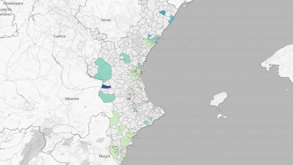 Mapa de los nuevos brotes en la Comunidad Valenciana | ABC
