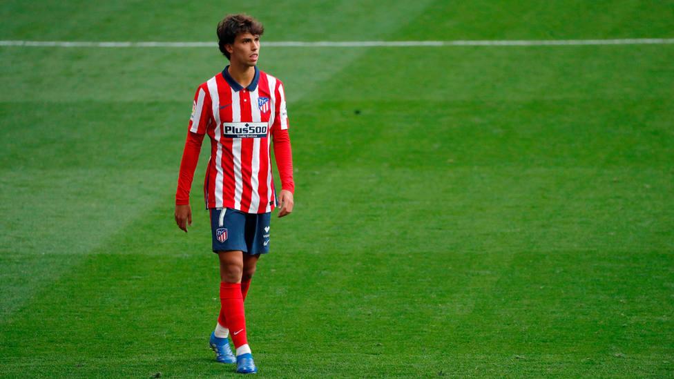 Joao Félix, en el césped del Wanda Metropolitano. EFE