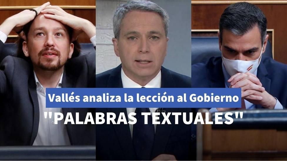 Vicente Vallés analiza la lección de Bruselas a Sánchez e Iglesias por la reforma del CGPJ