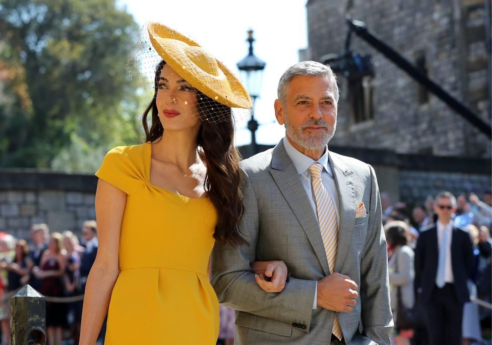 La misteriosa presencia de George y Amal Clooney en la boda de los los duques de Sussex