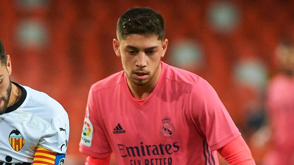 Fede Valverde, durante el Valencia - Real Madrid de LaLiga Santander. CORDONPRESS
