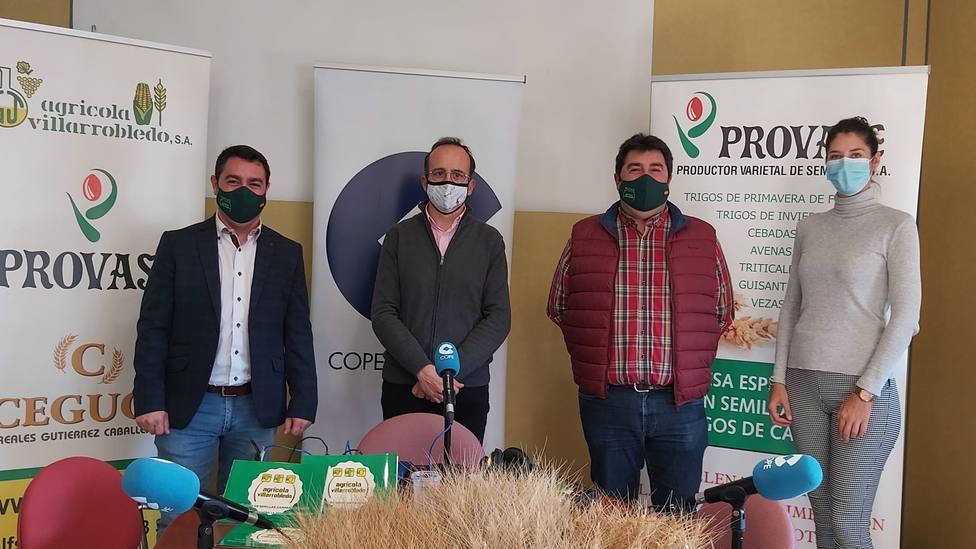 De izquierda a derecha, Juan Ángel Gutiérrez, Miguel Yeste, Narciso Gutiérrez y Caridad Morcillo