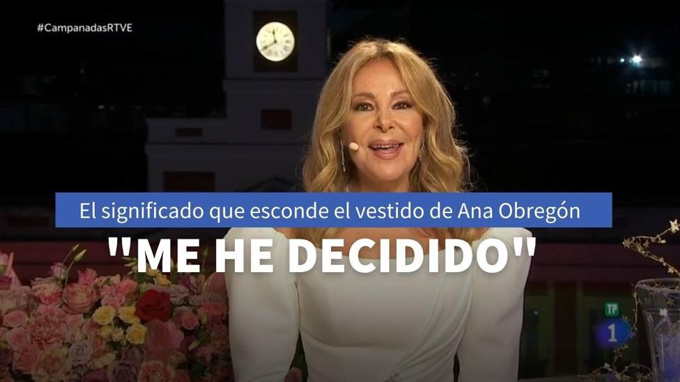 Ana Obregón desvela en TVE el significado del vestido blanco que ha lucido durante las Campanadas