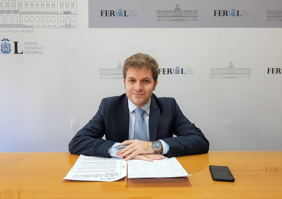 El concejal del Grupo Popular Javier Díaz Mosquera. FOTO: PP de Ferrol